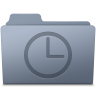 96x96px size png icon of History Folder Graphite