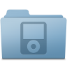 96x96px size png icon of IPod Folder Blue
