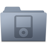 96x96px size png icon of IPod Folder Graphite