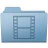 96x96px size png icon of Movie Folder Blue