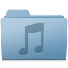 96x96px size png icon of Music Folder Blue