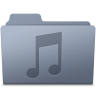 96x96px size png icon of Music Folder Graphite