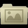 96x96px size png icon of Photo Folder Ash