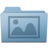 96x96px size png icon of Photo Folder Blue