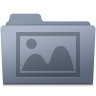 96x96px size png icon of Photo Folder Graphite