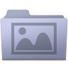 96x96px size png icon of Photo Folder Lavender