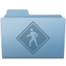 96x96px size png icon of Public Folder Blue