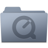 96x96px size png icon of QuickTime Folder Graphite