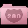 96x96px size png icon of Route Folder Sakura