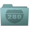 96x96px size png icon of Route Folder Willow