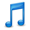 96x96px size png icon of Sidebar Music Blue
