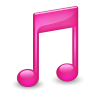 96x96px size png icon of Sidebar Music Pink