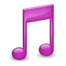 96x96px size png icon of Sidebar Music Purple