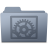 96x96px size png icon of System Preferences Folder Graphite