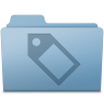 96x96px size png icon of Tag Folder Blue