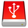 96x96px size png icon of USB Drive Red