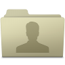 96x96px size png icon of Users Folder Ash