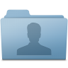 96x96px size png icon of Users Folder Blue