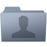 96x96px size png icon of Users Folder Graphite