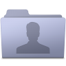 96x96px size png icon of Users Folder Lavender