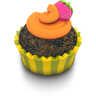 96x96px size png icon of Chocolate Orange Cupcake
