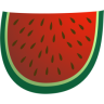 96x96px size png icon of watermelon