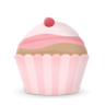 96x96px size png icon of cupcake cake cherry