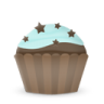 96x96px size png icon of cupcake cake stars