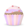 96x96px size png icon of cupcake cake
