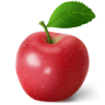 96x96px size png icon of apple red