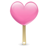 96x96px size png icon of ice cream heart