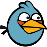 96x96px size png icon of angry bird blue