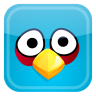 96x96px size png icon of blue bird