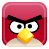 96x96px size png icon of red bird