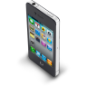 96x96px size png icon of iPhone 4 Black