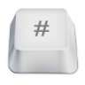 96x96px size png icon of hash