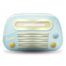 96x96px size png icon of vintage radio 01 blue