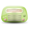 96x96px size png icon of vintage radio 03 green