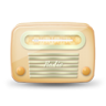 96x96px size png icon of vintage radio 04 yellow