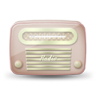 96x96px size png icon of vintage radio 06 red