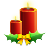 96x96px size png icon of Candles with ribbon