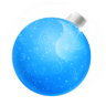 96x96px size png icon of Christmas ball blue