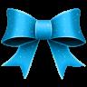 96x96px size png icon of Ribbon Blue Pattern