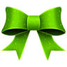 96x96px size png icon of Ribbon Green Pattern