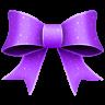 96x96px size png icon of Ribbon Purple Pattern