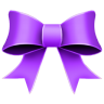 96x96px size png icon of Ribbon Purple