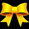 96x96px size png icon of Ribbon Yellow Pattern