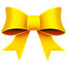 96x96px size png icon of Ribbon Yellow
