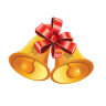 96x96px size png icon of Christmas Bells