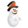 96x96px size png icon of Christmas Snowman
